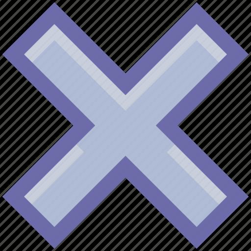 cancel, close, cross, no, reject icon