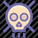 skull, danger, lock, protection, defender, security, wanted