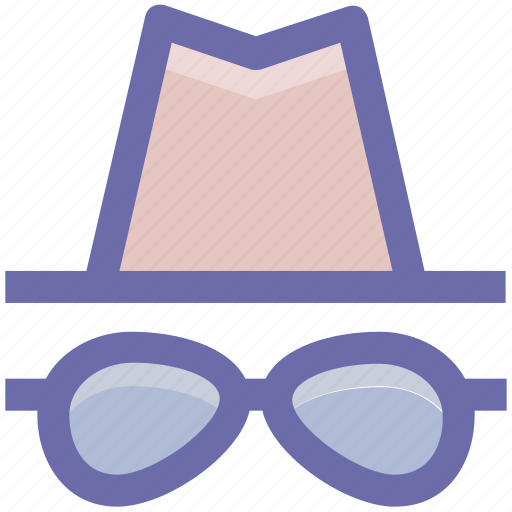glasses, hat, hipster, incognito, spy icon