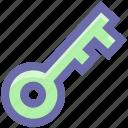 lock, protection, retro key, safety, key icon