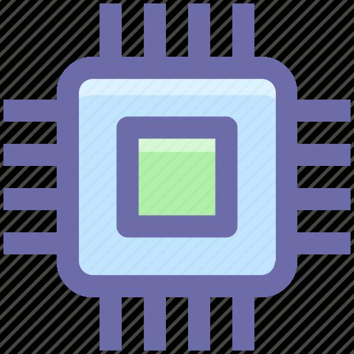 cpu, gpu, guard, network, processor, security, server icon