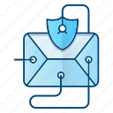 email, message, protection, threat, virus icon