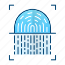 fingerprint, id, protection, scanner, security icon