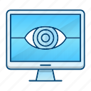 monitoring, protection, security, vision icon