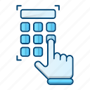 access, door, padlock, passcode, protection icon