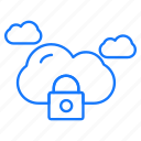 cloud, locked, secure, security icon