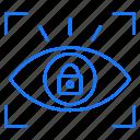 eye, locked, ratina, security icon