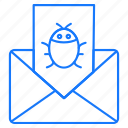 bug, email, envelope, message icon
