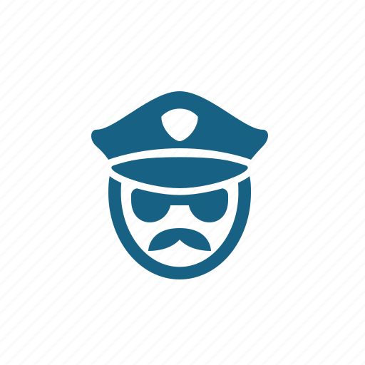 Agent, cop, police, police officer, security guard icon - Download on Iconfinder