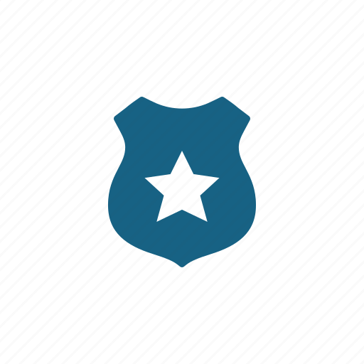 badge, law enforcement, police, security icon