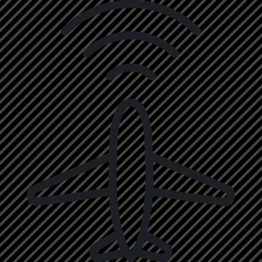 plane radar, protect, safe, security icon