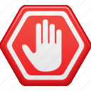 restricted, restriction, security, stop, stop sign icon