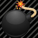 bomb, bombing, danger, fuse, security, terrorism icon