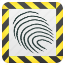 evidence, fingerprint, forensic, justice icon