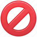 blocked, denied, restricted, restriction, sign icon