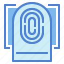 fingerprint, scan, scanning icon