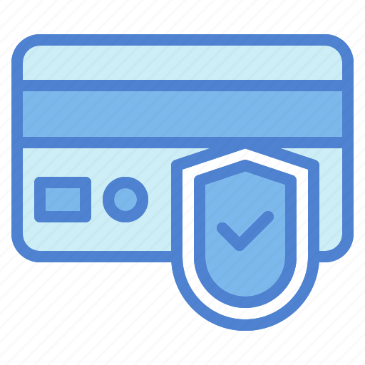 card, credit, payment, secure, security, shield icon