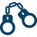 criminal, felony, handcuffs, jail, locked icon