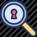 keyhole, search, secret, spy