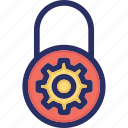 lock, password, private, properties, protection icon