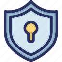 encryption, keyhole, private, protection, secure icon