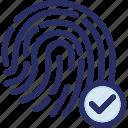 biometric, check, finger, fingerprint, id