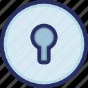 hole, key, keyhole, password, secure icon