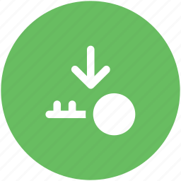 down arrow, key, lock, privacy, protection, safety, secrecy icon