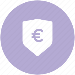 banking, economic, economy defense, euro sign, european currency, money protection, shield icon