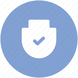 approved, checkmark, guard, protecting symbol, security, shield icon