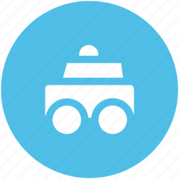 authority, cop car, emergency service, police car, police vehicle, security, security vehicle icon