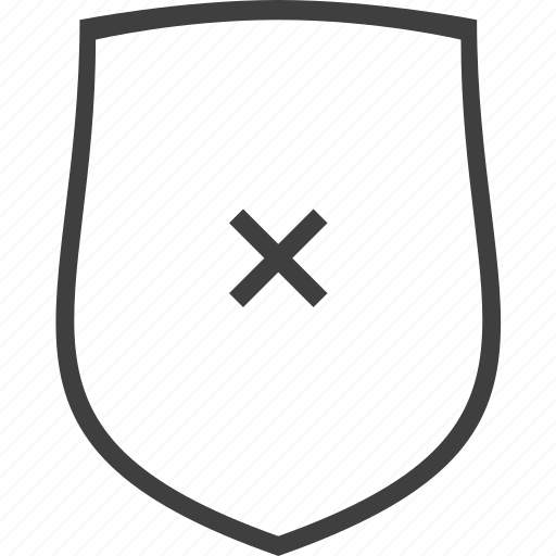 error, protection, safe, secure, security, shield icon