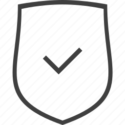 accept, ok, safe, secure, security, shield icon