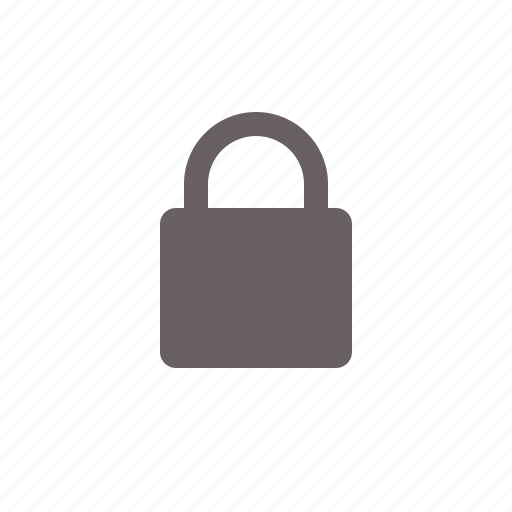 lock, locked, padlock, security icon