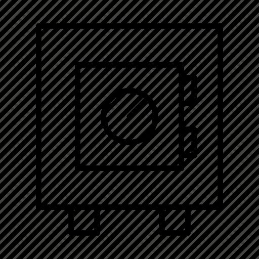 Deposit, locker, money, safe, strongbox icon - Download on Iconfinder