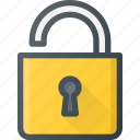 lock, open, protect, protection, secure, security icon