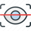 eye, protect, protection, retina, scan, security icon