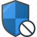 disable, firewall, protect, protection, security, shield icon