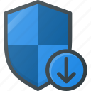 download, firewall, protect, protection, security, shield icon