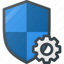 firewall, protect, protection, security, settings, shield icon