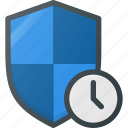 firewall, protect, protection, security, shield, time, timeout icon