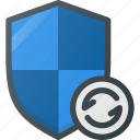 firewall, protect, protection, security, shield, update icon