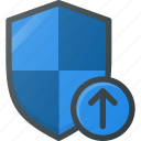 firewall, protect, protection, security, shield, upload icon