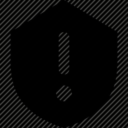 alert, shield icon