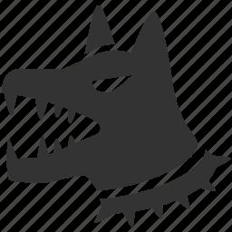 alert, dog, guard dog, k9, pet, safeguard, warning icon