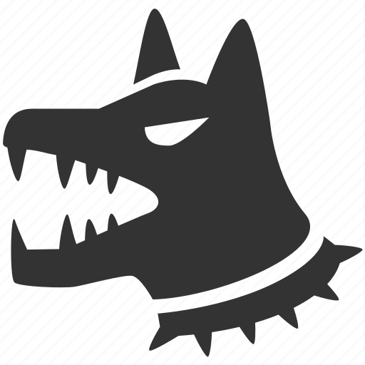alert, dog, guard dog, k9, pet, safeguard, warning icon