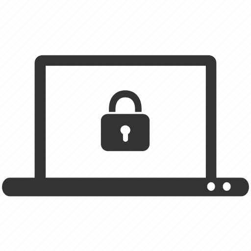 computer, laptop, locked, password, private, protect, protection icon