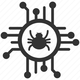 antivirus, firewall, lock, quarantine, shield, spyware, virus icon