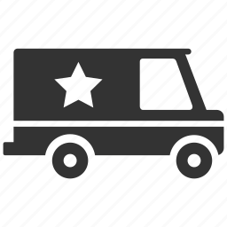 cop truck, protect, protection, security, security truck, swat truck, truck icon