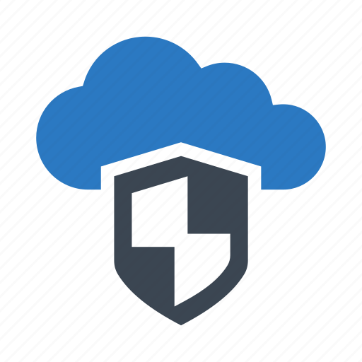 cloud, protection, safety, security, shield icon
